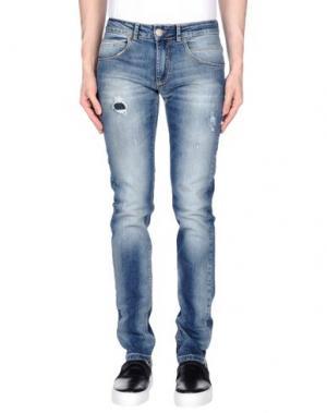Джинсовые брюки ONE SEVEN TWO. Цвет: синий