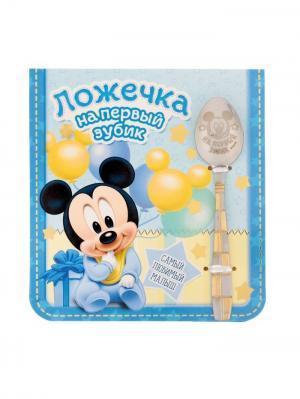 Ложечка детская Disney. Цвет: голубой, золотистый, серебристый