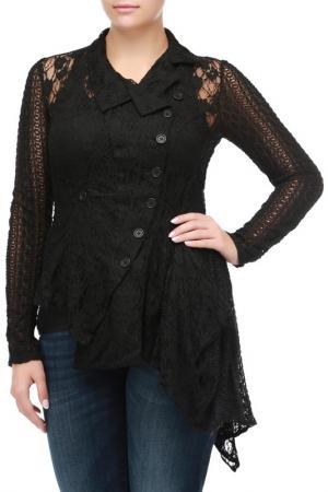 Блуза кружевная High. Цвет: черный