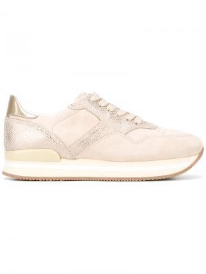 Lace-up sneakers Hogan. Цвет: телесный