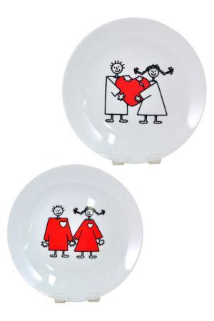 Набор тарелок Семья, 2шт Федерация. Цвет: мультиколор