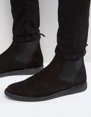 Zign Ботинки челси из нубука. Цвет: черный