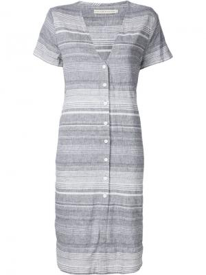 Платье-рубашка в полоску Shades Of Grey By Micah Cohen. Цвет: серый