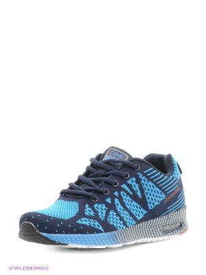 Кроссовки STROBBS. Цвет: голубой