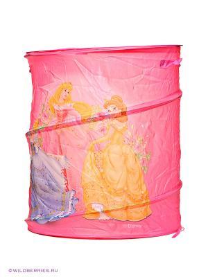 Корзина для игрушек DISNEY Принцесса Играем вместе. Цвет: розовый
