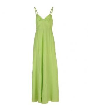 Длинное платье MOSCHINO CHEAP AND CHIC. Цвет: кислотно-зеленый