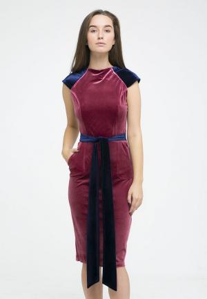 Платье Kira Mesyats. Цвет: розовый