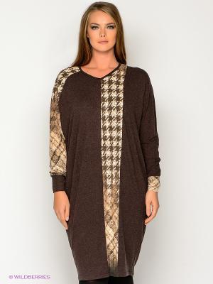 Платье МадаМ Т. Цвет: темно-коричневый, коричневый, молочный