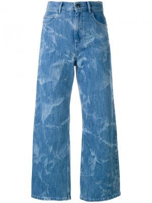 Укороченные брюки с завышенной талией Sonia By Rykiel. Цвет: синий