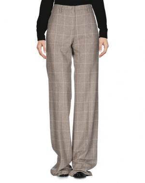 Повседневные брюки MALO. Цвет: голубиный серый