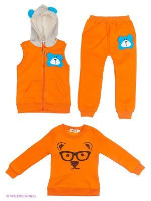 Комплект Kidly. Цвет: оранжевый, серый, голубой