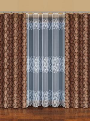 Комплект штор Haft. Цвет: коричневый