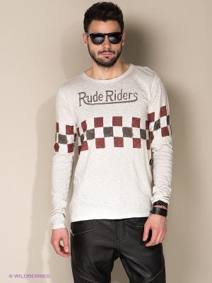 Лонгслив Rude Riders. Цвет: молочный
