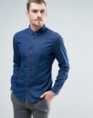 Esprit Серая джинсовая рубашка. Цвет: серый