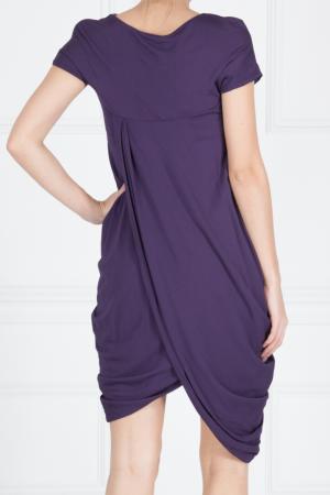 Платье из вискозы Maurizio Pecoraro. Цвет: фиолетовый