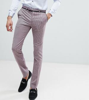 Noose & Monkey Супероблегающие брюки под смокинг TALL. Цвет: фиолетовый