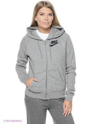 Толстовка Nike. Цвет: серый меланж, черный