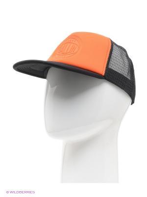 Бейсболка Cropp. Цвет: оранжевый