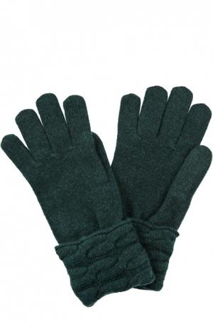 Вязаные перчатки из кашемира Kashja` Cashmere. Цвет: темно-зеленый