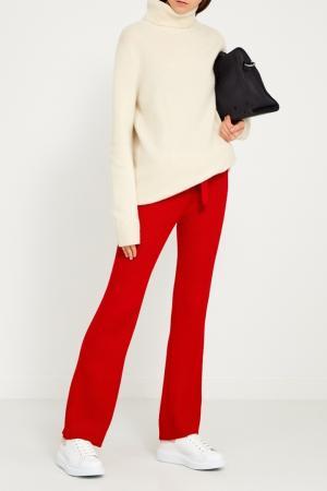 Красные трикотажные брюки Korsun. Цвет: красный