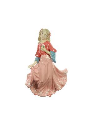 Статуэтка Девушка Русские подарки. Цвет: кремовый, белый