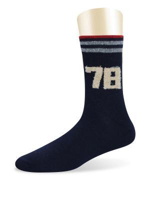 Носки спортивные -комплект 2 пары Glamuriki. Цвет: темно-синий