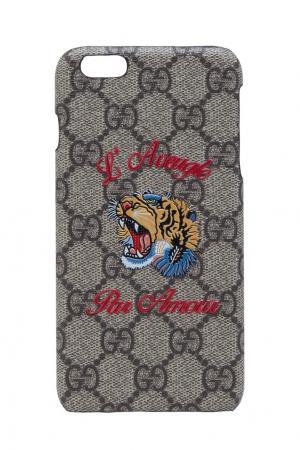 Чехол LAveugle Par Amour для iPhone 6 Plus Gucci. Цвет: бежевый, рыжий