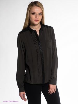 Блузка OBJECT. Цвет: темно-серый, черный