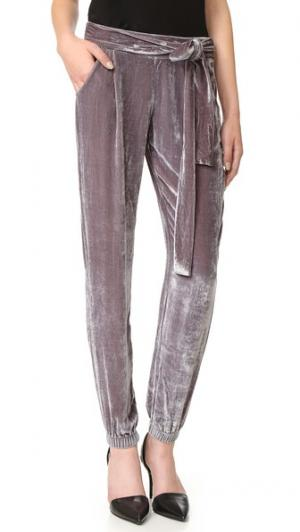Бархатные брюки Ciarra Young Fabulous & Broke. Цвет: мягкий серый