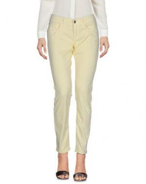 Повседневные брюки FRANKIE MORELLO. Цвет: светло-желтый