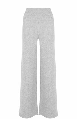 Расклешенные кашемировые брюки malo. Цвет: светло-серый