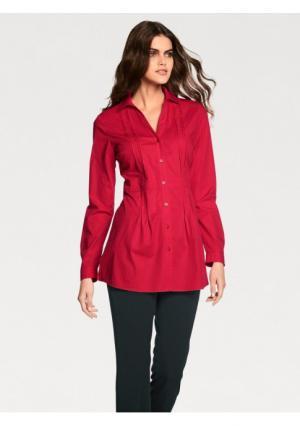 Удлиненная блузка PATRIZIA DINI. Цвет: белый, красный, темно-синий