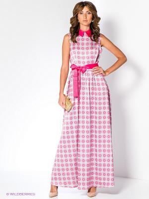 Платье Анна Чапман. Цвет: светло-серый, розовый
