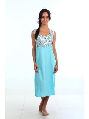 Ночная сорочка Pastilla. Цвет: голубой
