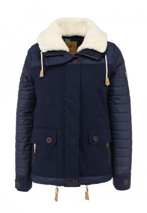 Куртка утепленная Roxy. Цвет: синий