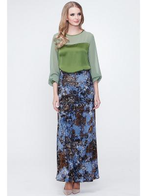 Блузка VICTORIA VEISBRUT. Цвет: зеленый