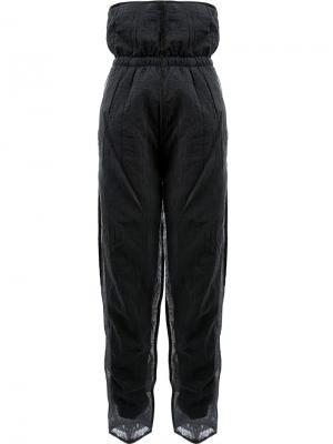 Прозрачные многослойные спортивные брюки Cottweiler. Цвет: синий