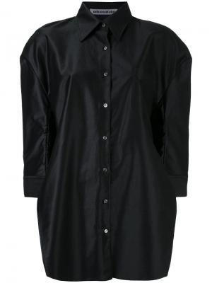 Рубашка со структурированными плечами Mikio Sakabe. Цвет: чёрный