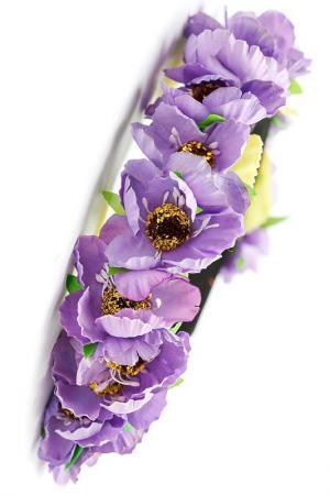 Ободок с цветами FRANSUA ARDY. Цвет: фиолетовый
