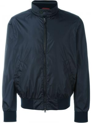 Классическая куртка-бомбер Fay. Цвет: синий
