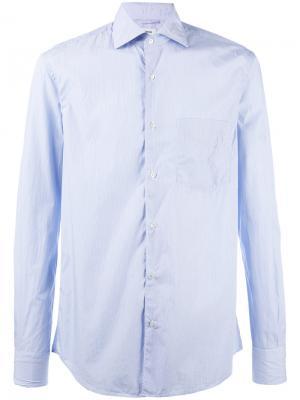 Полосатая рубашка Aspesi. Цвет: синий