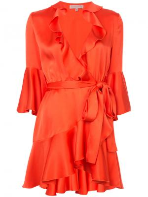 Платье Arista Maria Lucia Hohan. Цвет: жёлтый и оранжевый