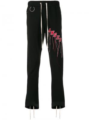 Спортивные брюки с принтом Mr. Completely. Цвет: чёрный