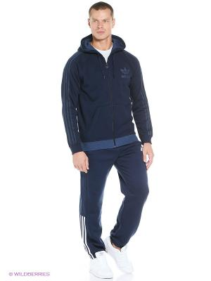 Брюки Ess Mid Pant Cb Adidas. Цвет: темно-синий, белый