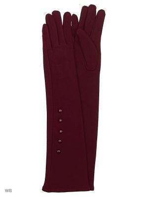Перчатки Palantini. Цвет: бордовый