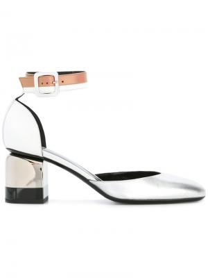 Туфли на каблуках-столбиках Pierre Hardy. Цвет: металлический