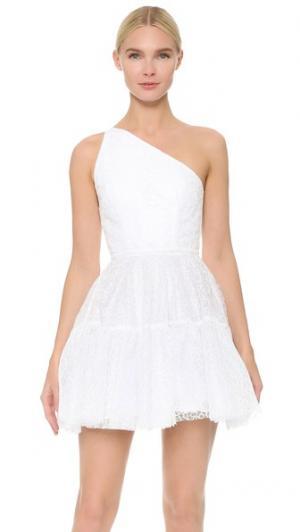 Мини-платье Lana на одно плечо Alex Perry. Цвет: черный/розовый/белый
