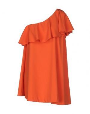 Короткое платье MARIAGRAZIA PANIZZI. Цвет: оранжевый