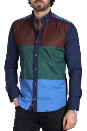 Рубашка BRANGO. Цвет: коричневый