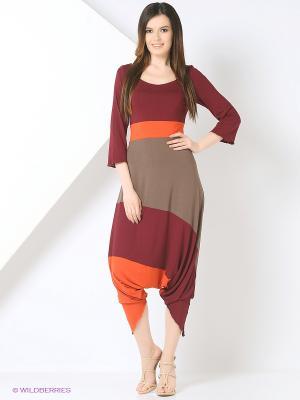 Комбинезон МадаМ Т. Цвет: коричневый, лиловый